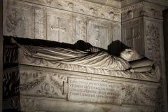 Tumba de los cardenales Cristoforo y Domenico della Rovere 1479 Santa Maria del Popolo Church Imagen de archivo libre de regalías