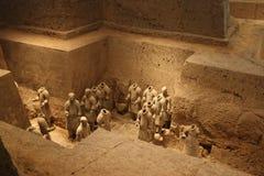 Tumba de los guerreros de la terracota Imagenes de archivo
