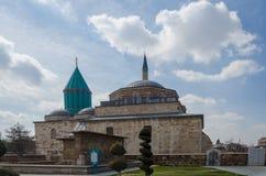 Tumba de Mevlana y mezquita del museo en Konya, Turquía, foto de archivo