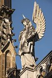 Tumba de Trebon - de Schwarzenberg - detalle, estatua de un ángel fotografía de archivo