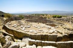 Tumba del rey, Mycenae Fotografía de archivo