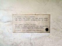 Tumba del ` s de Juliet en Verona Italy fotografía de archivo