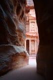 Tumba en el Petra Imagen de archivo libre de regalías