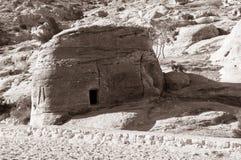 Tumba en el Petra Fotos de archivo libres de regalías