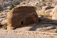 Tumba en el Petra Foto de archivo libre de regalías