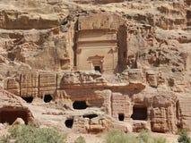 Tumba en el Petra, Jordania de Nabatean Fotos de archivo libres de regalías