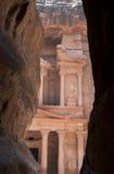 Tumba en Petra Jordania Imagen de archivo libre de regalías