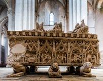 Tumba medieval de rey Pedro I de Portugal Imagen de archivo