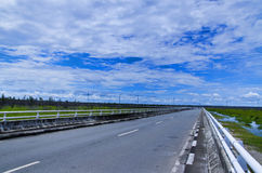 Tumbang Nusa Highway. There is highway connecting Palangkaraya, Central Kalimantan and Banjarmasin, South Kalimantan. Only four hours you can go another province royalty free stock photos