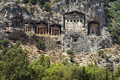 Tumbas #2 de Lycian imagen de archivo