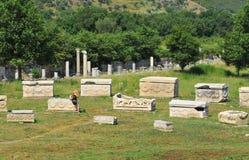 Tumbas de Ephesus Foto de archivo libre de regalías