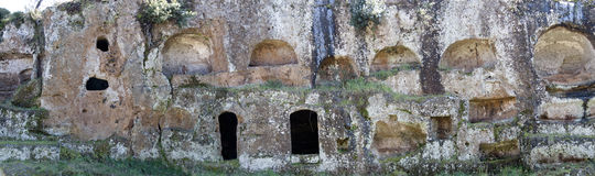 Tumbas de Etruscan Imagenes de archivo