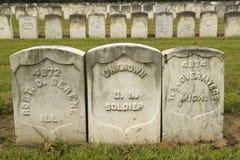 Tumbas de la prisión de los soldados desconocidos, del parque nacional Andersonville o del campo Sumter, de la guerra civil y del Foto de archivo libre de regalías