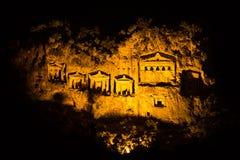 Tumbas de la roca de Kaunian Imagenes de archivo