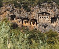 Tumbas de la roca de Kaunos Imágenes de archivo libres de regalías