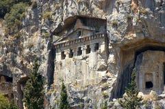 Tumbas de la roca de Lycian foto de archivo libre de regalías