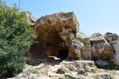 Tumbas de los reyes Paphos, Chipre fotos de archivo