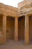 Tumbas de los reyes, Paphos, Chipre Imágenes de archivo libres de regalías