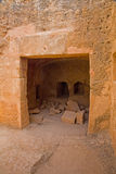 Tumbas de los reyes, Paphos, Chipre Imagenes de archivo