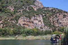 Tumbas de Lycian Fotografía de archivo libre de regalías