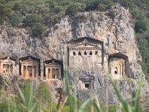 Tumbas de Lycian Foto de archivo libre de regalías