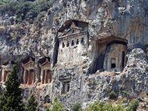 Tumbas de Lycian fotografía de archivo