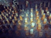Tumbas de piedra en Londres, Inglaterra Imagenes de archivo