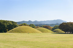 Tumbas de Silla en Gyeongju Foto de archivo libre de regalías