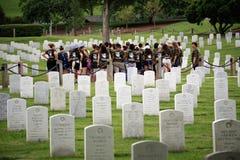 Tumbas del cementerio nacional de Arlington Foto de archivo