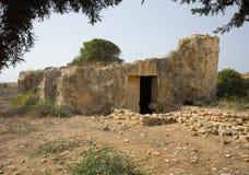 Tumbas del Kingfs, Paphos, Chipre Fotografía de archivo