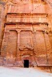 Tumbas del Petra Imagen de archivo libre de regalías