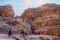 Tumbas del Petra Foto de archivo
