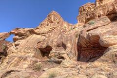 Tumbas del Petra Imagenes de archivo
