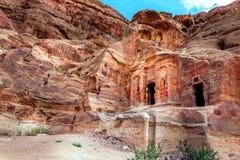 Tumbas del Petra Foto de archivo libre de regalías