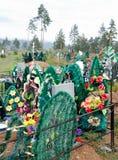Tumbas en el cementerio Foto de archivo