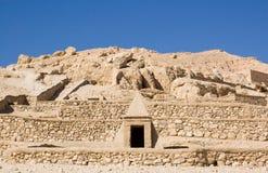 Tumbas en el EL Medina, Luxor de Deir Imagenes de archivo