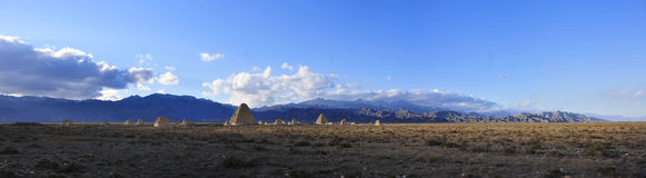 Tumbas imperiales occidentales de Xia fotografía de archivo libre de regalías