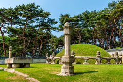 Tumbas reales de Seonjeongneung Imágenes de archivo libres de regalías