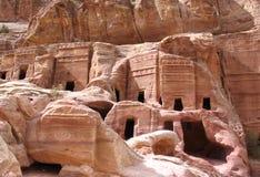 Tumbas reales en el Petra Fotos de archivo
