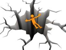 Tumble. The person falls in a precipice. 3D render Stock Photo