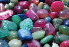Tumbled gemstones Stock Photos