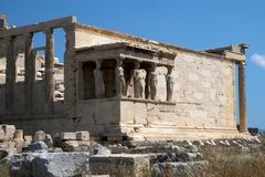 Tumbledown temple at Acropolis Stock Photography