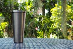 Tumbler нержавеющей стали/цвет серебра Стоковая Фотография