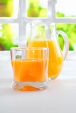 Tumbler of fresh healthy orange juice Royalty Free Stock Photos