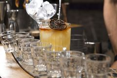 Coctail and vintage garnish stock image