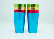 Tumblers do alumínio do vintage Fotos de Stock Royalty Free