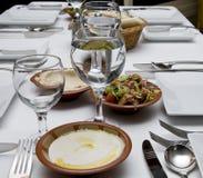 tumblers tableware cutlery хлеба стеклянные Стоковое Изображение RF
