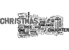 A Tumbleweed Christmas Word Cloud Royalty Free Stock Images