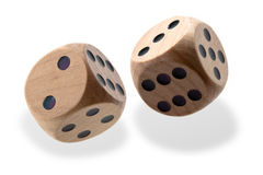 Tumbling dice Royalty Free Stock Photos