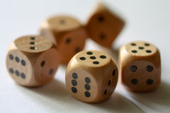 Tumbling dice Stock Photos